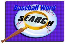 BASEBALL WORD SEARCH
