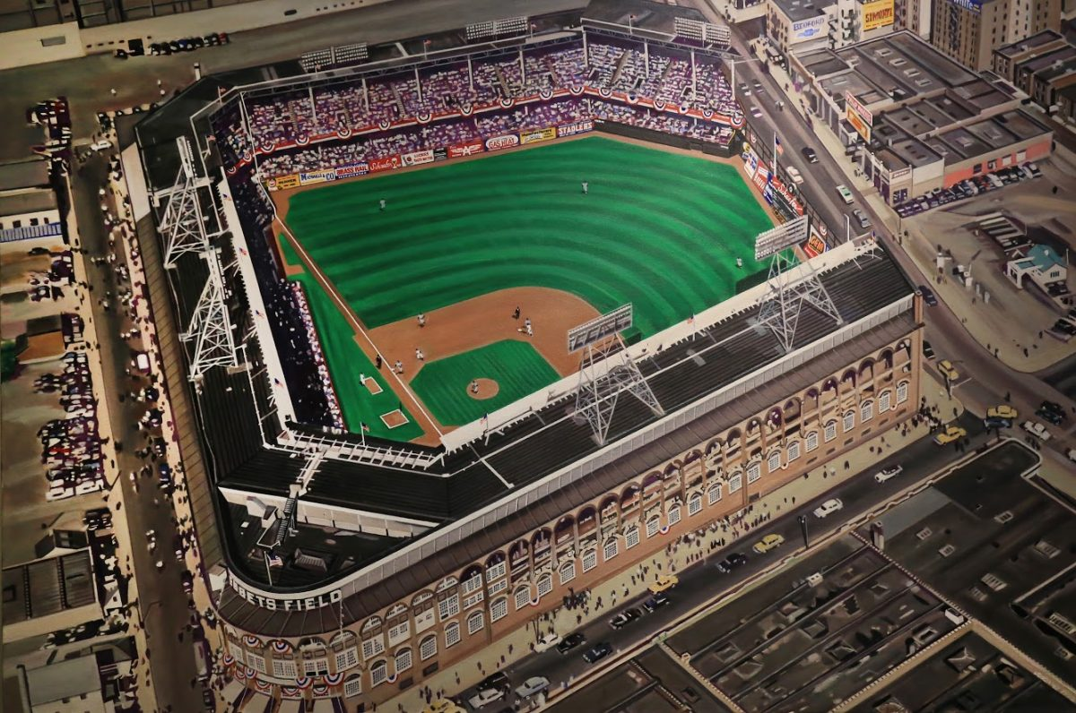 Portrait of Ebbets Field, home to the Brooklyn Dodgers