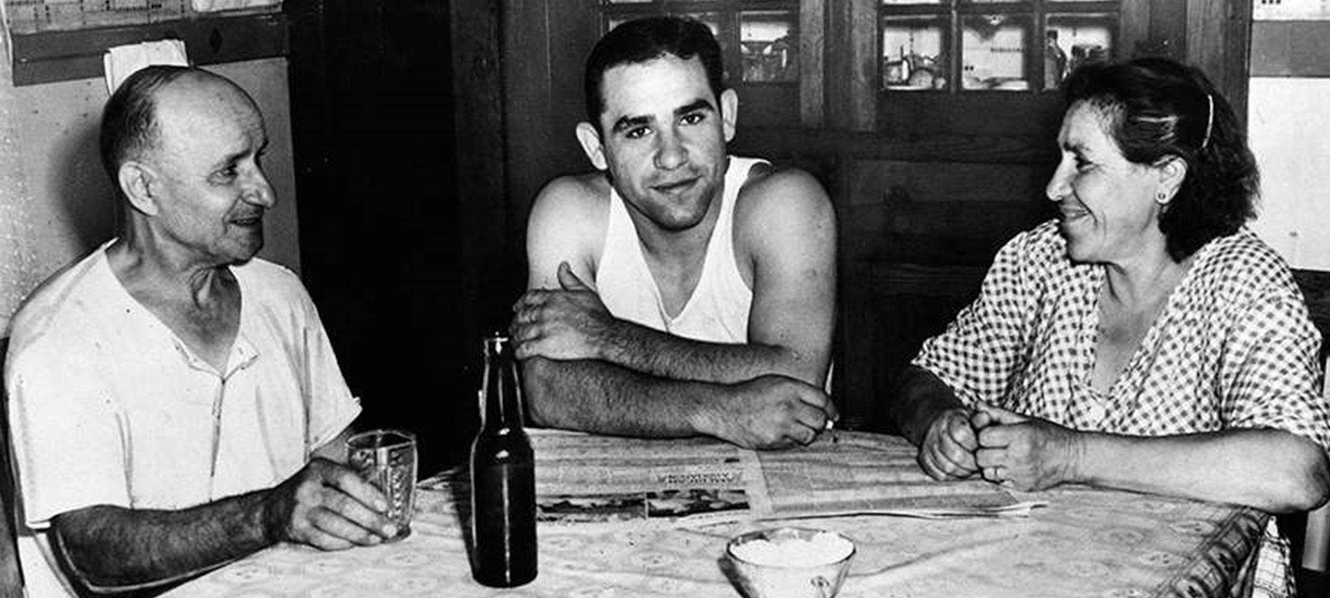 Yogi Berra and his Parents