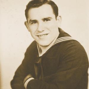 Yogi Berra in his Navy uniform