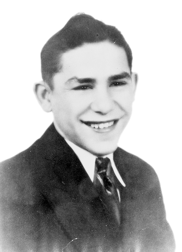 Portrait of young Yogi Berra