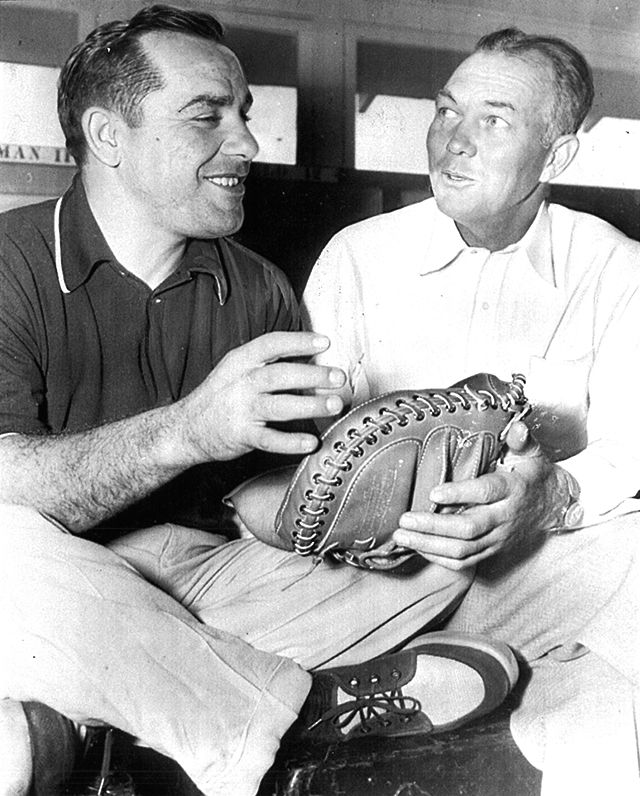 Yogi Berra and Bill Dickey