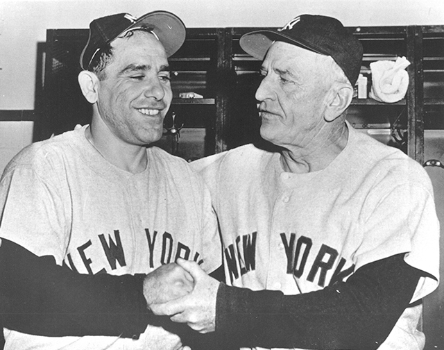 Casey Stengel and Yogi Berra