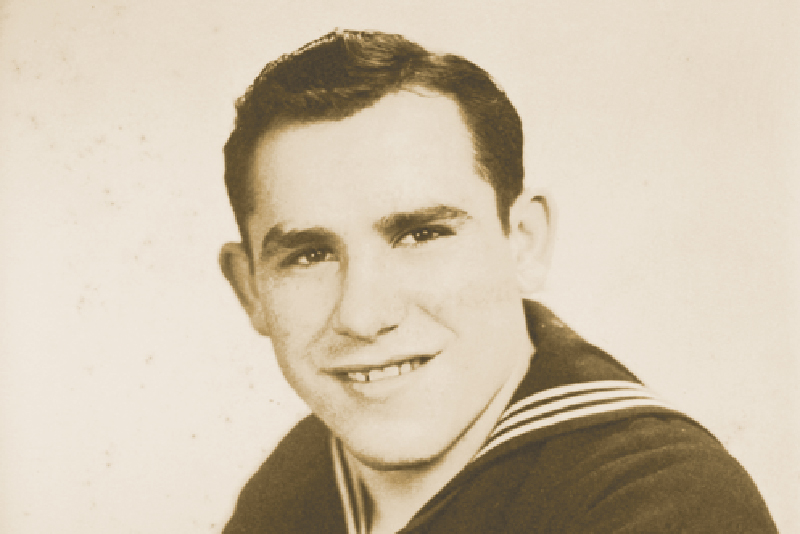 Yogi Berra's US Navy yearbook photo, 1944
