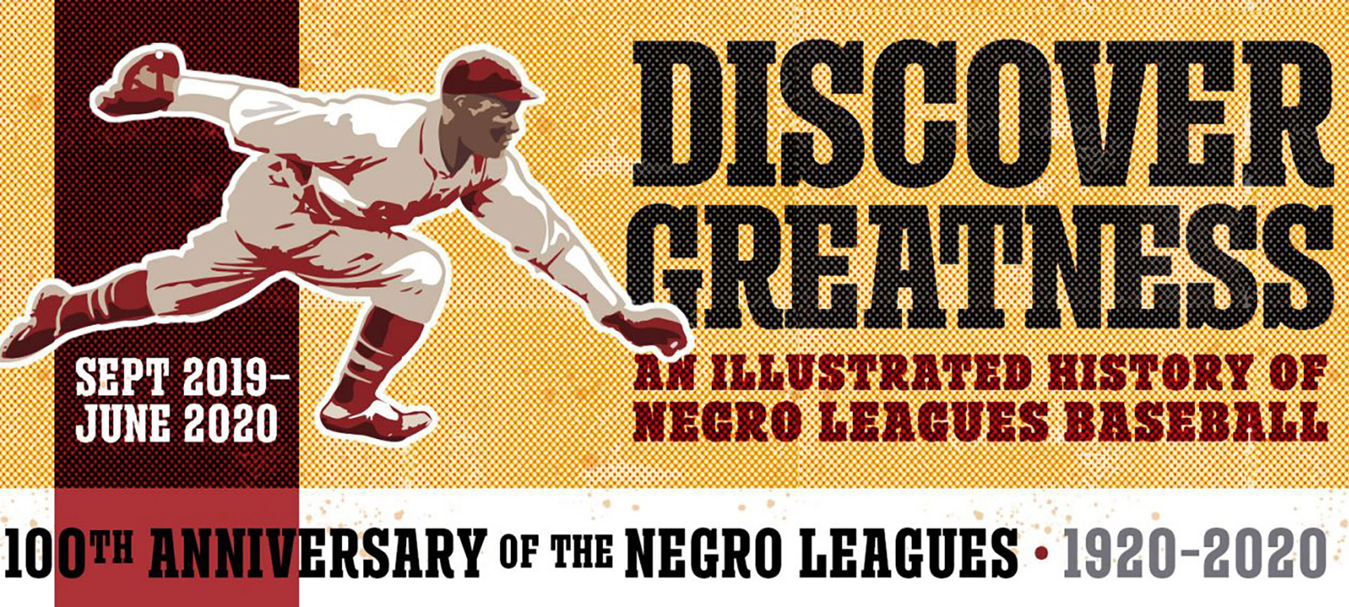 Banner for Discover Greatness exhibition