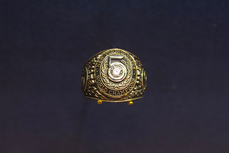 A 1953 World Series ring, marking five NY Yankee championships in a row