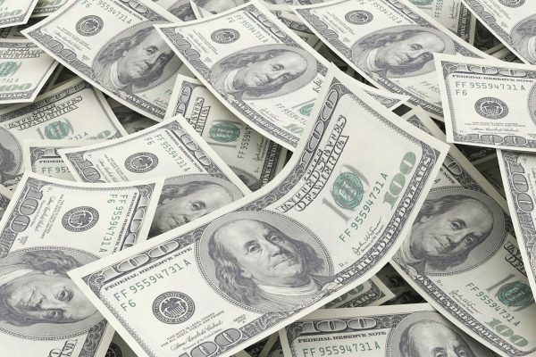 Pile of U.S. $100 bills