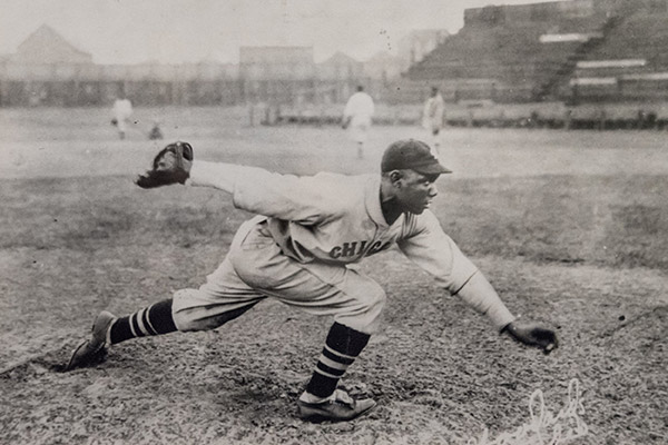 Willie Foster pitching.